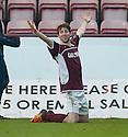 Stenny's Darren Smith celebrates after he scores their second goal.
