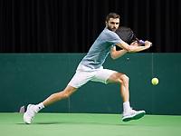 Rotterdam, Netherlands, 10 februari, 2019, Ahoy, Tennis, ABNAMROWTT,  GILLES SIMON (FRA) Photo: Henk Koster/tennisimages.com