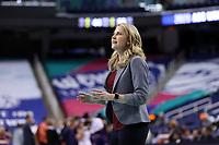 GREENSBORO, NC - MARCH 6: Head coach Joanna Bernabei-McNamee of Boston College during a game between Clemson and Boston College at Greensboro Coliseum on March 6, 2020 in Greensboro, North Carolina.