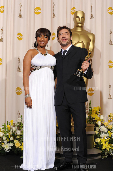 Javier Bardem & Jennifer Hudson at the 80th Annual Academy Awards at the Kodak Theatre, Hollywood..February 24, 2008 Los Angeles, CA.Picture: Paul Smith / Featureflash