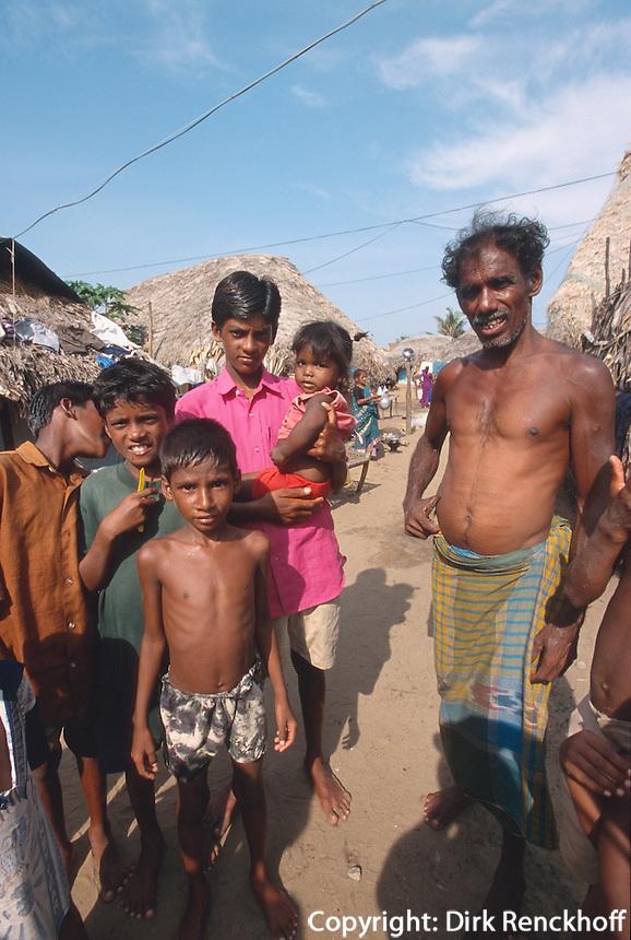 Indien, Orissa, Puri, im Fischerdorf