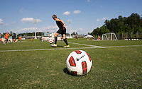Nike Ball, Amy LePeilbet. The USWNT practice at WakeMed Soccer Park in preparation for their game with Japan.