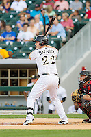 Matt Davidson (22) of the Charlotte Knights at bat against the Rochester Red Wings at BB&T Ballpark on June 5, 2014 in Charlotte, North Carolina.  The Knights defeated the Red Wings 7-6.  (Brian Westerholt/Four Seam Images)