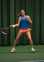 Rotterdam, The Netherlands, 15.03.2014. NOJK 14 and 18 years ,National Indoor Juniors Championships of 2014, Sanne de Ruiter (NED)<br /> Photo:Tennisimages/Henk Koster