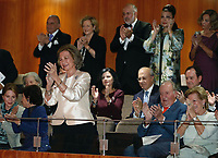 02-11-2018 Spain Queen Sofia, with King Juan Carlos and Queen Anne-Marie, attend a concert celebrating her 80th birthday at the Reina Sofia School of Music in Madrid<br /> .