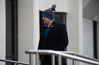 Pictured: Fraser Daniel Rees arrives at Swansea Crown Court for centencing. Friday 18 January 2019<br /> Re:  A man who took a replica 'James Bond' pistol into a pub is due to be sentenced today (Fri 18 Jan 2019) at Swansea Crown Court.<br /> A scuffle broke out in Red Lion pub in Cardigan, west Wales on the evening of April 2, 2018 when a customer saw the imitation weapon in the waistband of Fraser Daniel Rees' trousers and tried to disarm him.<br /> Rees claimed it was intended as a prop for his mother's amateur theatre production.<br /> Rees denied possession of an imitation firearm in a public place – saying he had a reasonable excuse for having it with him and in any case had lawful authority to carry it – but was found guilty following a Swansea Crown Court trial.<br /> The gun was a replica of a Walther PPK, the handgun made famous by actors Sean Connery and Roger Moore as James Bond.