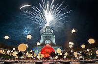 """18.10.2013 Illumination """"cosmogole"""" @ Völkerschlachtdenkmal Leipzig"""