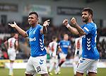 03.11.18 St Mirren v Rangers: Alfredo Morelos and Daniel Candeias celebrate their goals