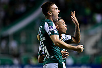 PALMIRA - COLOMBIA, 22-05-2019: Carlos Rodriguez del Cali celebra después de anotar el primer gol de su equipo durante partido entre Deportivo Cali de Colombia y Club Atlético Peñarol de Uruguay por la segunda ronda de la Copa CONMEBOL Sudamericana 2019 jugado en el estadio Deportivo Cali de la ciudad de Palmira. / Carlos Rodriguez of Cali celebrates after scoring the first goal of his team during match between Deportivo Cali of Colombia and Club Atletico Peñarol of Uruguay for the second round as part Copa CONMEBOL Sudamericana 2019 played at Deportivo Cali stadium in Palmira city.  Photo: VizzorImage / Nelson Rios / Cont