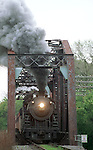 An old steam engine makes its way across a bridge. (DOUG WOJCIK MEDIA)
