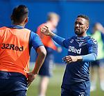 19.04.2019 Rangers training: Jermain Defoe and Alfredo Morelos