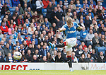 David Templeton scores the second goal for Rangers with his first tough of the ball after coming on as a half time sub