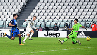 3rd January 2021, Allianz Stadium, Turin Piedmont, Italy; Serie A Football, Juventus versus Udinese; Cristiano Ronaldo shoots and scores for Juventus