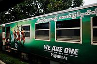 Train, Yangon, Myanmar in 2017