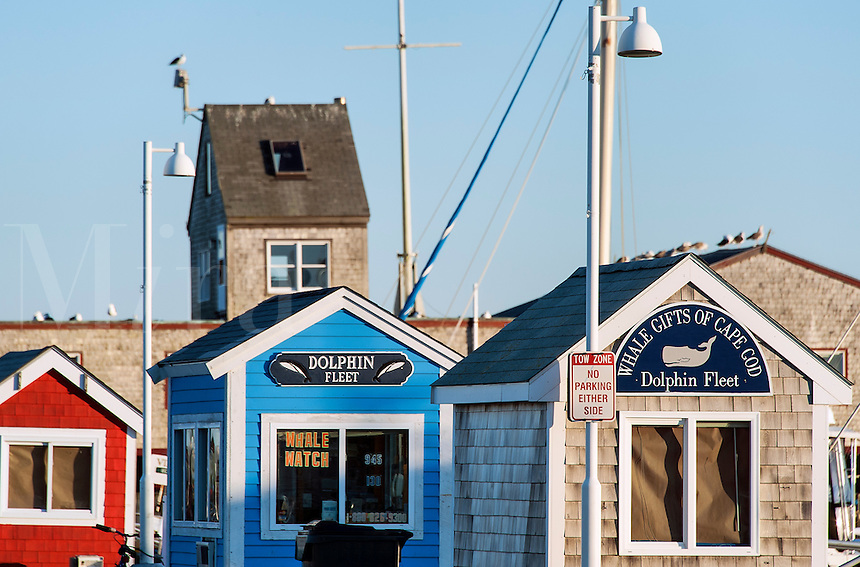 Excursion ticket booths, Provincetown, Cape Cod, Massachusetts, USA