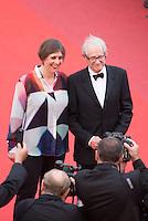 Rebecca O'Brien, Ken Loach - CANNES 2016 - MONTEE DES MARCHES - CEREMONIE DE CLOTURE