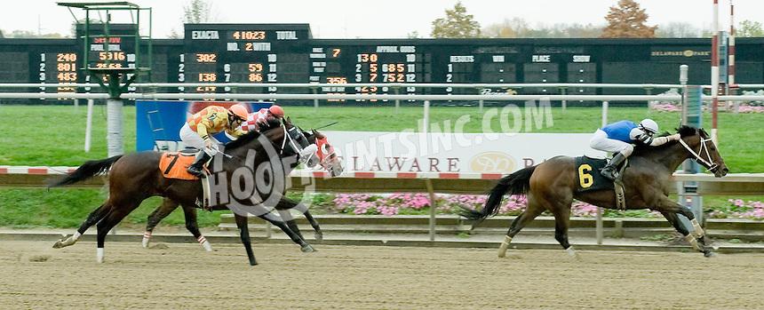 Isabull winning at Delaware Park on 10/26/10