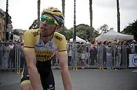 Robert Wagner (DEU/LottoNL-Jumbo) at the finish<br /> <br /> 2015 Giro<br /> stage 3: Rapallo - Sestri Levante (136km)
