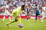 Real Madrid's player Kiko Casilla during a match of La Liga Santander at Santiago Bernabeu Stadium in Madrid. August 27, Spain. 2016. (ALTERPHOTOS/BorjaB.Hojas)