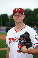 Harrisburg Senators pitcher Lucas Giolito (30) poses for a photo before a game against the New Hampshire Fisher Cats on June 2, 2016 at FNB Field in Harrisburg, Pennsylvania.  New Hampshire defeated Harrisburg 2-1.  (Mike Janes/Four Seam Images)