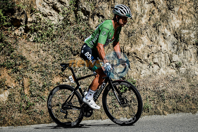 Peter Sagan (SVK) Bora-Hansgrohe slips back on Col de Turini during Stage 2 of Tour de France 2020, running 186km from Nice Haut Pays to Nice, France. 30th August 2020.<br /> Picture: ASO/Alex Broadway   Cyclefile<br /> All photos usage must carry mandatory copyright credit (© Cyclefile   ASO/Alex Broadway)