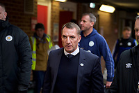 Leicester City manager Brendan Rodgers arriving pre match during the FA Cup 4th round match between Brentford and Leicester City at Griffin Park, London, England on 25 January 2020. Photo by Andy Aleks.