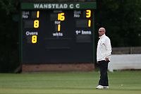 The square leg umpire looks on during Wanstead and Snaresbrook CC (fielding) vs Brentwood CC, Hamro Foundation Essex League Cricket at Overton Drive on 19th June 2021