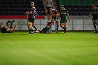 9th September 2020; Twickenham Stoop, London, England; Gallagher Premiership Rugby, London Irish versus Harlequins; Dino Lamb of Harlequins goes over for a try