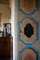 A detail of an orginal painted Catalan doors.