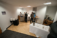 Saturday 17 August 2013<br /> <br /> Pictured: Press room at the liberty Stadium<br /> <br /> Re: Barclays Premier League Swansea City v Manchester United at the Liberty Stadium, Swansea, Wales