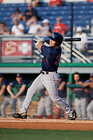 Lowell Spinners Stephen Scott (38) bats during a NY-Penn League game against the Batavia Muckdogs on July 10, 2019 at Dwyer Stadium in Batavia, New York.  Batavia defeated Lowell 8-6.  (Mike Janes/Four Seam Images)