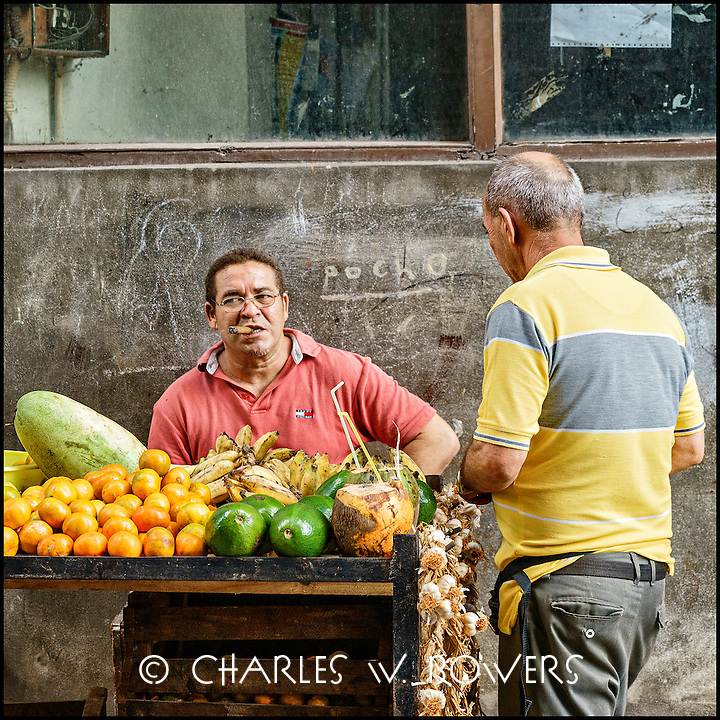 Faces Of Cuba - Local grocery on the street. Fresh and delicious.<br />