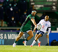 1st October 2021;  The Sportsground, Galway, Ireland; United Rugby Championships, Connacht versus Bulls; Tom Daly kicks clear for Connacht