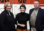 WATERBURY, CT - 31 March 2004 - 033104TH04 - Jackie Jennings of Cheshire and Principal of Sacred Heart High School and Ron and Marianne Dubuque of Waterbury pose at the preview party for the Sacred Heart High School Spring Musical preview party at the Mattatuck Museum in Waterbury.   TODD HOUGAS PHOTO