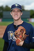 Jake Woodford (20) of H.B. Plant High School in Tampa, Florida poses for a photo while playing for the Tampa Bay Rays scout team during the East Coast Pro Showcase on July 31, 2014 at NBT Bank Stadium in Syracuse, New York.  (Mike Janes/Four Seam Images)