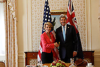 New York, Sept 27, 2013 Australian Foreign Minister Julie Bishop meets with United States Secretary of State John Kerry in New York. photo by Trevor Collens