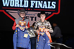 Shane Smith, Caden Carver, during the Team Roping Back Number Presentation at the Junior World Finals. Photo by Andy Watson. Written permission must be obtained to use this photo in any manner.