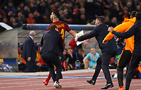 Roma s Kostas Manolas celebrates after scoring during the Uefa Champions League quarter final second leg football match between AS Roma and FC Barcelona at Rome's Olympic stadium, April 10, 2018.<br /> UPDATE IMAGES PRESS/Riccardo De Luca