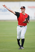 Jake Oester #22 of the Kannapolis Intimidators at Fieldcrest Cannon Stadium May 12, 2010, in Kannapolis, North Carolina.  Photo by Brian Westerholt / Four Seam Images