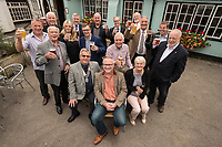 Licensee of the Horse & Groom at Linby, Graeme Beal is pictured centre receiving a toast from the Rotary Club of Hucknall. Club president Robert Copley is seated to the left of Graeme