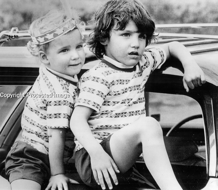 Justin Trudeau and Brother<br /> <br /> Photo : Boris Spremo - Toronto Star archives - AQP
