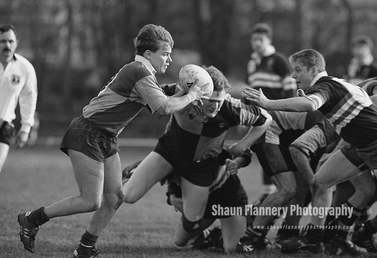 Pix: Shaun Flannery/shaunflanneryphotography.com<br /> <br /> COPYRIGHT PICTURE>>SHAUN FLANNERY>01302-570814>>07778315553>><br /> <br /> 6th February 1993<br /> <br /> Rugby Union - Yorkshire Shield<br /> Doncaster v Wheatley Hills