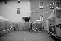 2013 Giro d'Italia.stage 14: Cervere - Bardonecchia.168km..pitstop at the start village for Christian Knees (DEU)