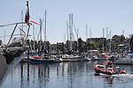 San Juan Island, Friday Harbor, San Juan Islands, Washington State, Pacific Northwest, United States, North America, USA, coastal town, waterfront, yacht harbor, summer tourist season, tourists,