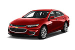 2018 Chevrolet Malibu Premier 4 Door Sedan angular front stock photos of front three quarter view