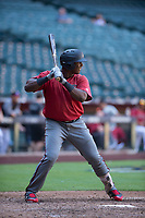 Arizona Diamondbacks right fielder Juan Araujo (34) at bat during an Instructional League game against the Kansas City Royals at Chase Field on October 14, 2017 in Phoenix, Arizona. (Zachary Lucy/Four Seam Images)