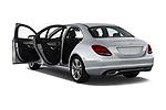 Car images close up view of a 2018 Mercedes Benz C-Class Sedan C350e Plug-in Hybrid 4 Door Sedan doors