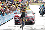 Sepp Kuss (USA) Jumbo-Visma from the breakaway wins Stage 15 of the 2021 Tour de France, running 191.3km from Céret to Andorre-La-Vieille, Andorra. 11th July 2021.  <br /> Picture: Colin Flockton | Cyclefile<br /> <br /> All photos usage must carry mandatory copyright credit (© Cyclefile | Colin Flockton)