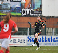 UEFA Women's Under 17 Championship - Second Qualifying round - group 1 : Switzerland - Belgium  : .Valentine Hannecart.foto DAVID CATRY / Vrouwenteam.be