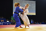 Wales Kirsty Powell in action against Cynthia Rahming<br /> <br /> Photographer Ian Cook/Sportingwales<br /> <br /> 20th Commonwealth Games - Day 1 - Thursday 24th July 2014 - Judo  - SEEC- Glasgow - UK